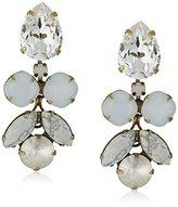 """Sorrelli Pearl Luster"""" Crystal Lotus Flower Drop Earrings"""