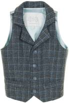 Little Wardrobe London - Single Breasted Arlington Waistcoat Grey Check