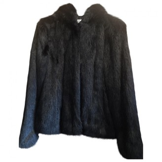 Gas Jeans Black Faux fur Coat for Women
