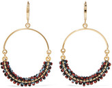 Isabel Marant Gold-tone Beaded Hoop Earrings - one size