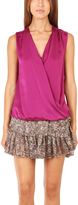 Vince Crossover Cami Blouse Magenta