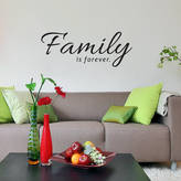 STUDY SirFace Graphics Family Is Forever Wall Sticker