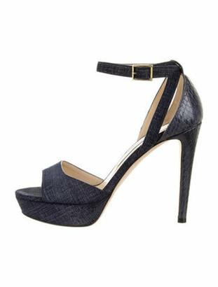 Jimmy Choo Snakeskin Sandals Blue