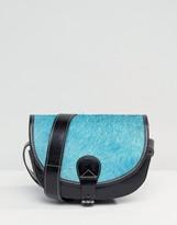 Park Lane Real Leather Cross Body Saddle Bag