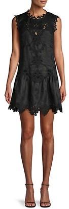 Rebecca Taylor Embroidered Mini Dress