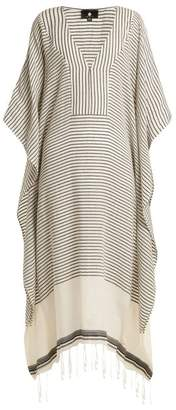 Su Paris - Jimba Striped Cotton Gauze Kaftan - Womens - Grey Stripe