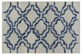 Threshold Stonewash Bath Rug - Navy/Cream