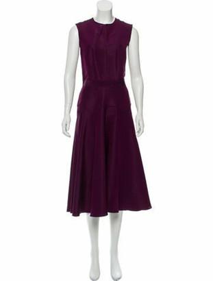 Derek Lam Sleeveless Midi Dress Purple