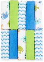 Bed Bath & Beyond Just Bath by Just BornTM Love to Bathe 10-Pack Knit Washcloth in Crab/Blue and Green