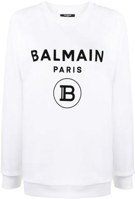 Balmain Raglan Sleeve Logo Sweatshirt