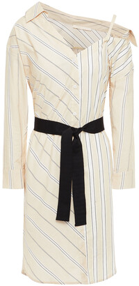 Maje Riavila Striped Cotton-poplin Shirt Dress