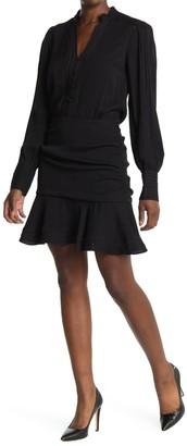 Veronica Beard Jasper Long Sleeve Ruched Dress