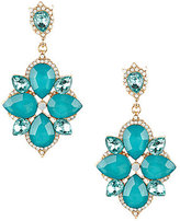 Natasha Accessories Pave Flower Drop Earrings