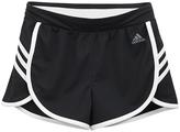 adidas Black & White Ultimate 3-Stripe Knit Shorts - Girls