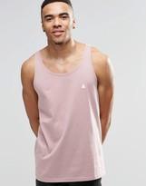 Asos Logo Relaxed Skater Vest In Pink