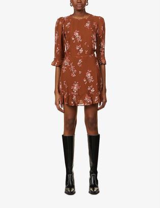 Reformation Doutzen floral-print crepe mini dress