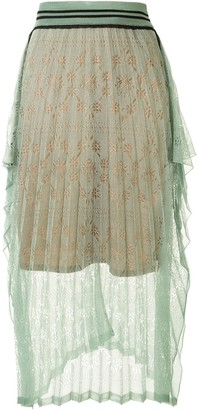 Mame Kurogouchi Lace Panel Skirt