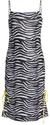 STAUD Zebra Print Dress