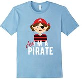 Pirate Shirt Girl Outfit Birthday Party Funny Arr T-Shirt
