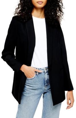 Topshop Single Breasted Longline Blazer