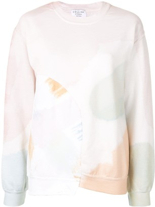 Collina Strada Abstract-Print Asymmetric Sweatshirt