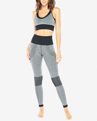 Express Electric Yoga High Waisted Ribbed Legging