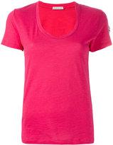 Moncler Scollo T-shirt - women - Cotton - S