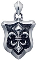 Stainless Forever Stainless Steel Fleur De Lis Shield Pendant