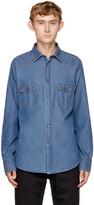 Brioni Navy Denim Shirt