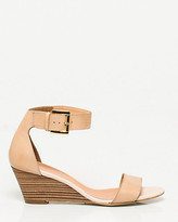 Le Château Leather Ankle Cuff Wedge
