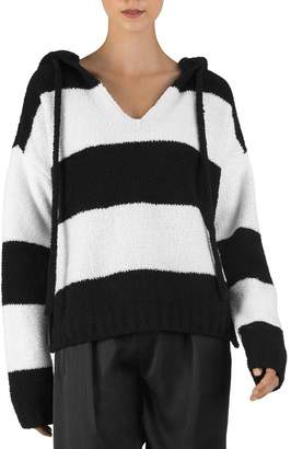 ATM Anthony Thomas Melillo Striped Chenille Hoodie