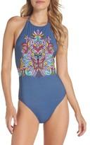 Nanette Lepore Women's Dazed Denim Goddess One-Piece Swimsuit