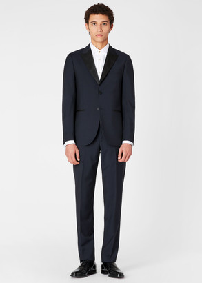 Paul Smith Men's Tailored-Fit Navy Wool-Mohair Evening Suit