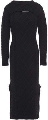 Each X Other Convertible Cable-knit Merino Wool Midi Dress
