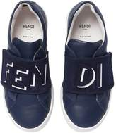 Fendi Leather & Suede Strap Sneakers