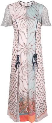 Liberty London Vita mixed-print midi dress