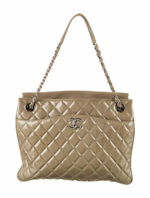 Chanel Accordion Shopping Tote silver