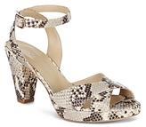 Hobbs London Vivienne Snake Embossed High Heel Sandals