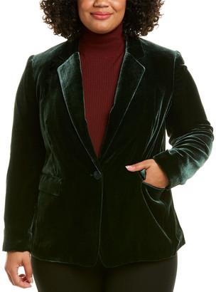Lafayette 148 New York Plus Lyndon Silk-Blend Jacket