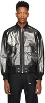Diesel Black Leather L-Steward-Foil Jacket