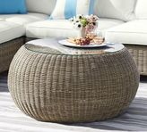 Pottery Barn Torrey All-Weather Wicker Round Coffee Table - Natural