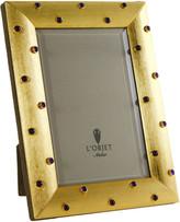 L'OBJET Vermeil & Amethyst Stones Frame - Gold - 4x6