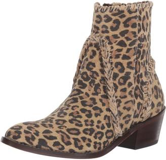 Very Volatile Women's Varela Western Boot Brown Leopard 7.5 B US