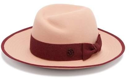 Maison Michel Virginie Felt Hat - Womens - Pink