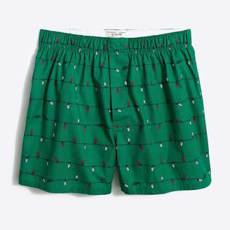 J.Crew Christmas lights woven boxers