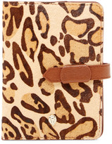 Helen Kaminski Lynx Genuine Calf Hair Passport Holder