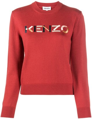 Kenzo Embroidered Logo Crew Neck Jumper