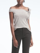Banana Republic Merino Off-the-Shoulder Bow Top