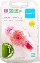 Mam BPA FREE Twist Pacifier Keeper & Clip - Pink