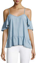 Paige Mitzi Cold-Shoulder Chambray Top, Indigo